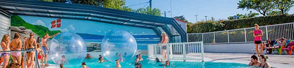 campsite with swimming pool basque country