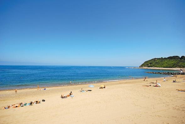 stacaravan goedkoop Baskisch strand