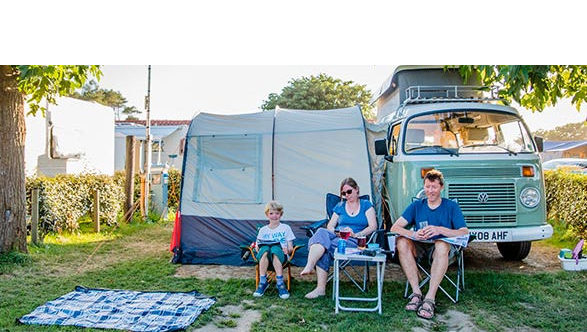 emplacement location camping car Landes